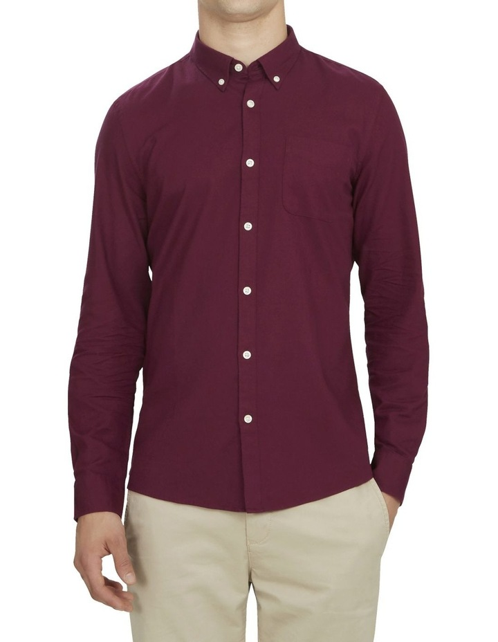 Burgundy Custom Fit Shirt image 1