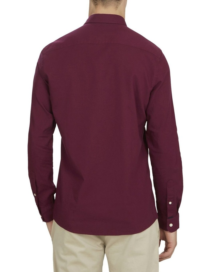 Burgundy Custom Fit Shirt image 3