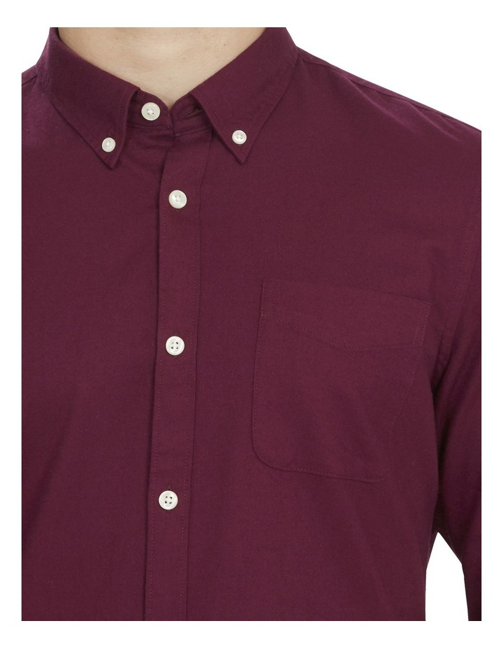 Burgundy Custom Fit Shirt image 4