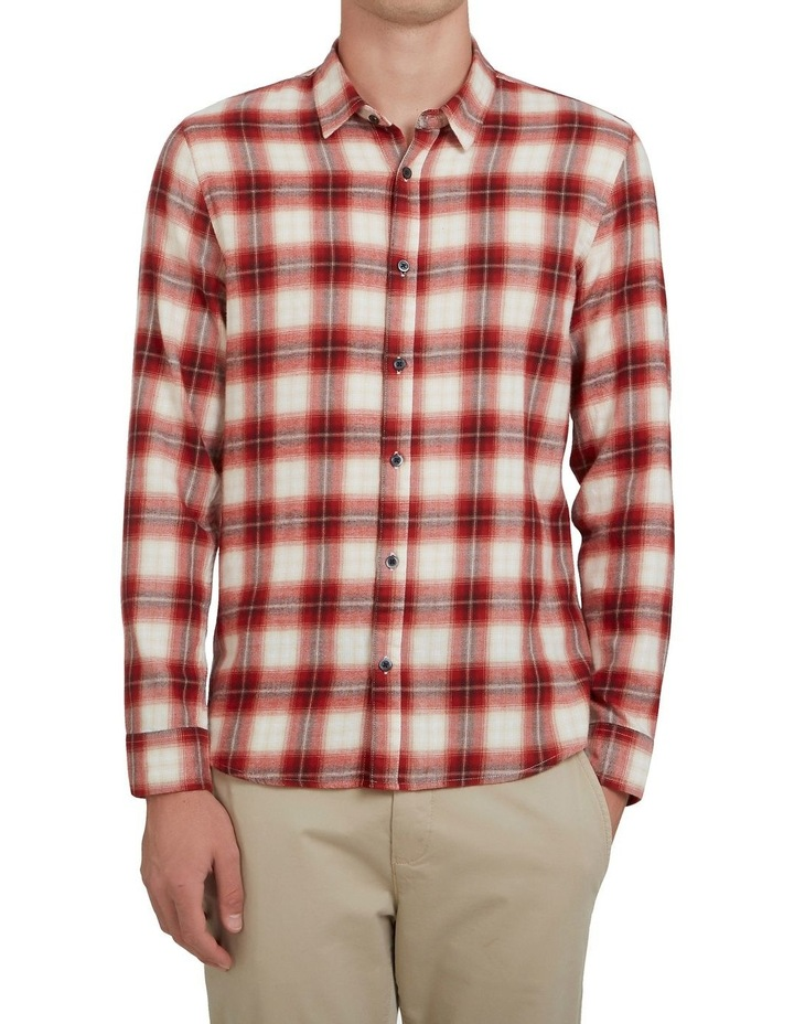 Red Check Classic Fit Shirt image 1