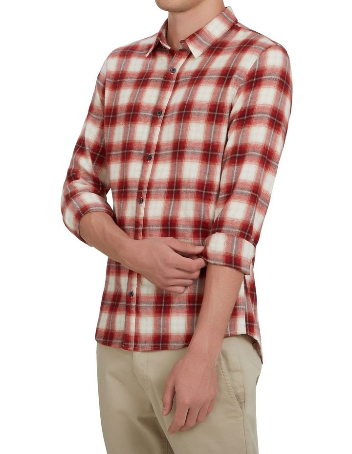 Red Check Classic Fit Shirt image 2