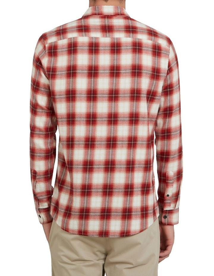 Red Check Classic Fit Shirt image 3