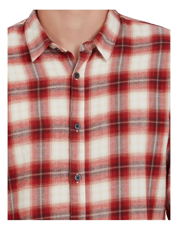 Red Check Classic Fit Shirt image 4