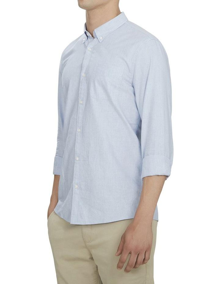 Pale Blue Melange Custom Fit Shirt image 2