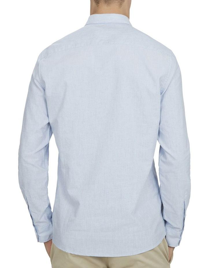 Pale Blue Melange Custom Fit Shirt image 3