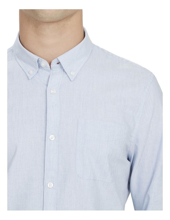 Pale Blue Melange Custom Fit Shirt image 4