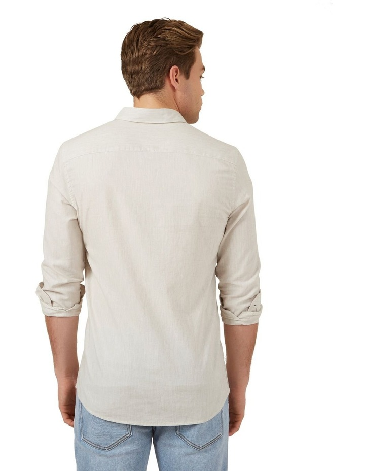 Oatmeal Melange Custom Fit Shirt image 3