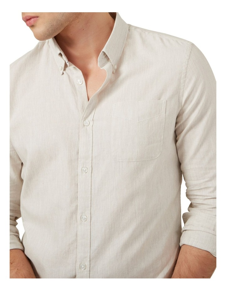 Oatmeal Melange Custom Fit Shirt image 4