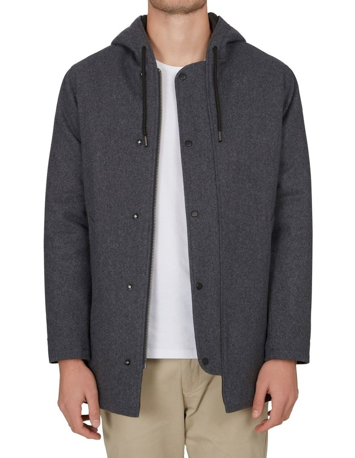 Hooded Wool Coat image 1