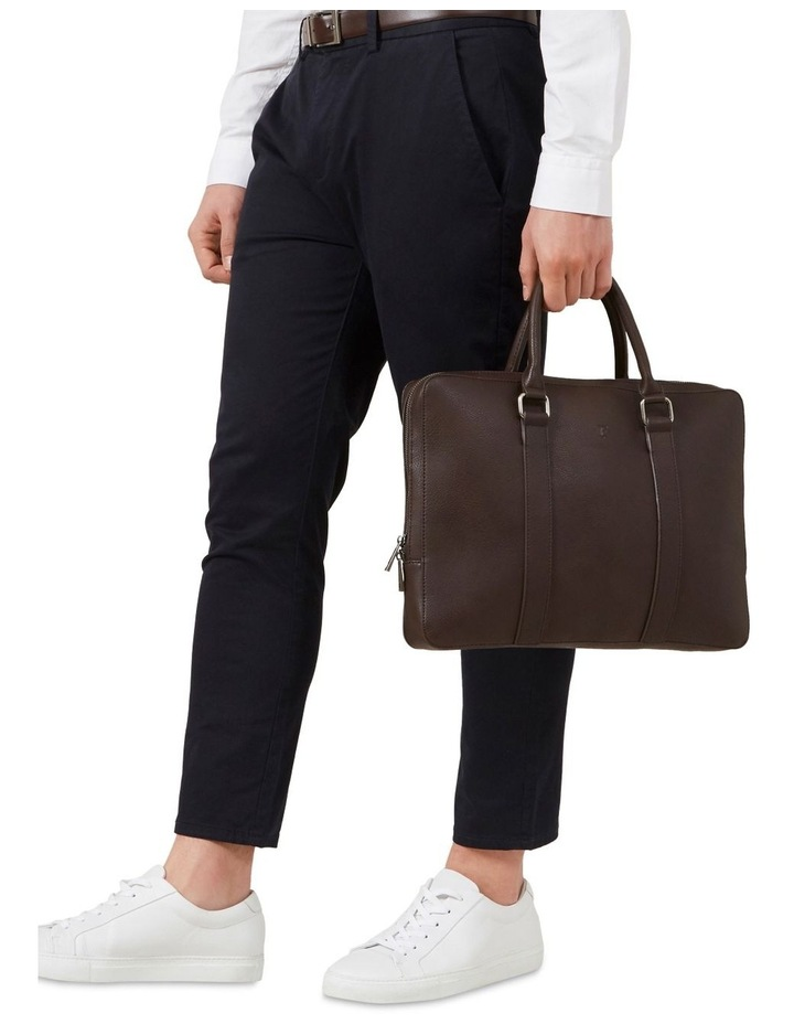 Leather Look Brief Case image 2