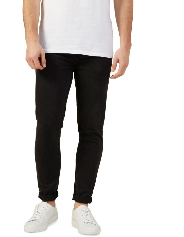 Washed Black Slim Stretch Jean image 1