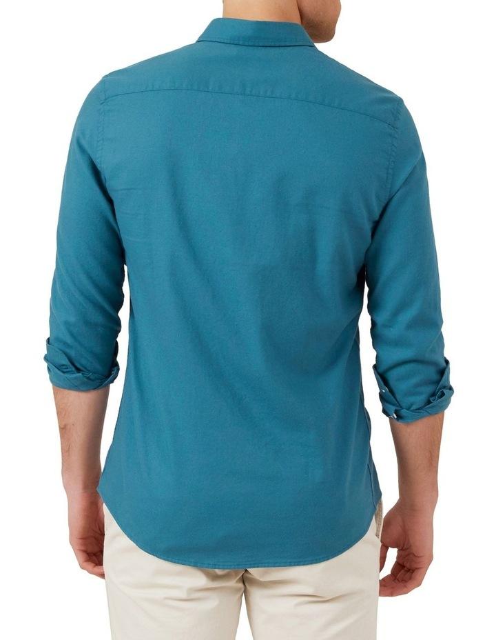 Ocean Blue L/S Custom Fit Shirt image 3