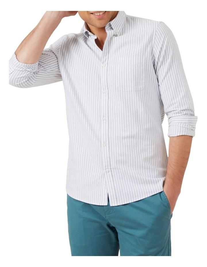 Stripe Long Sleeve Custom Fit Shirt image 1