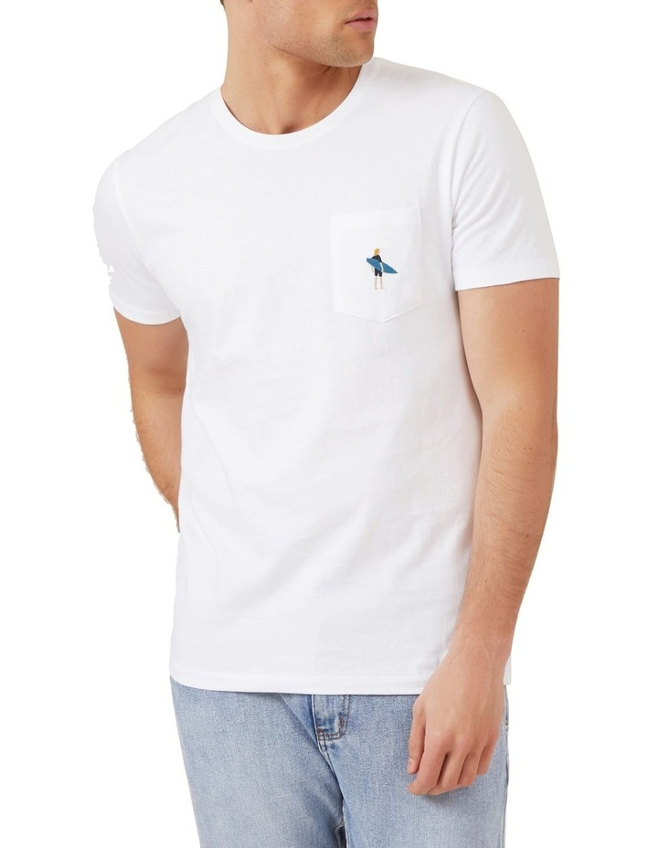 Surfer Embroidery T Shirt image 1