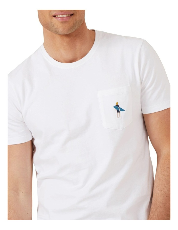 Surfer Embroidery T Shirt image 4