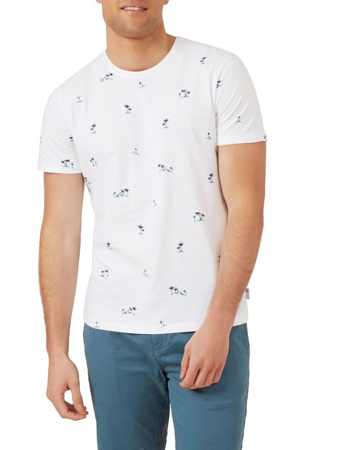 Hawaiian Print T Shirt image 1