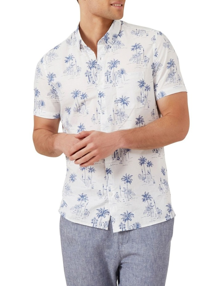 Hawaiian Print Classic Fit Shirt image 1