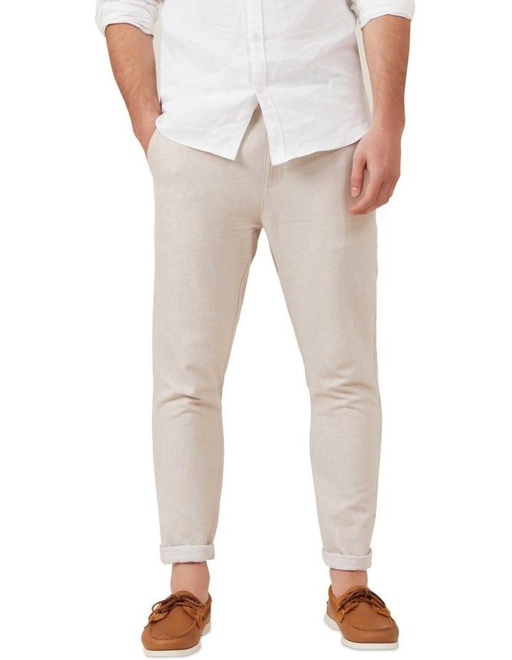 Linen Blend Pull On Pant image 1