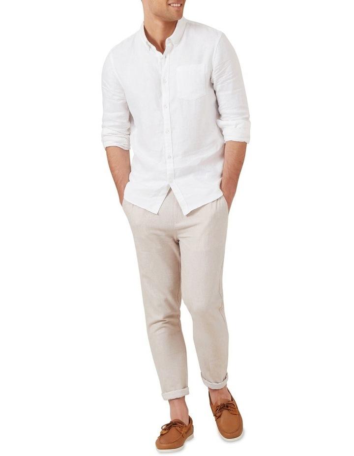 Linen Blend Pull On Pant image 2