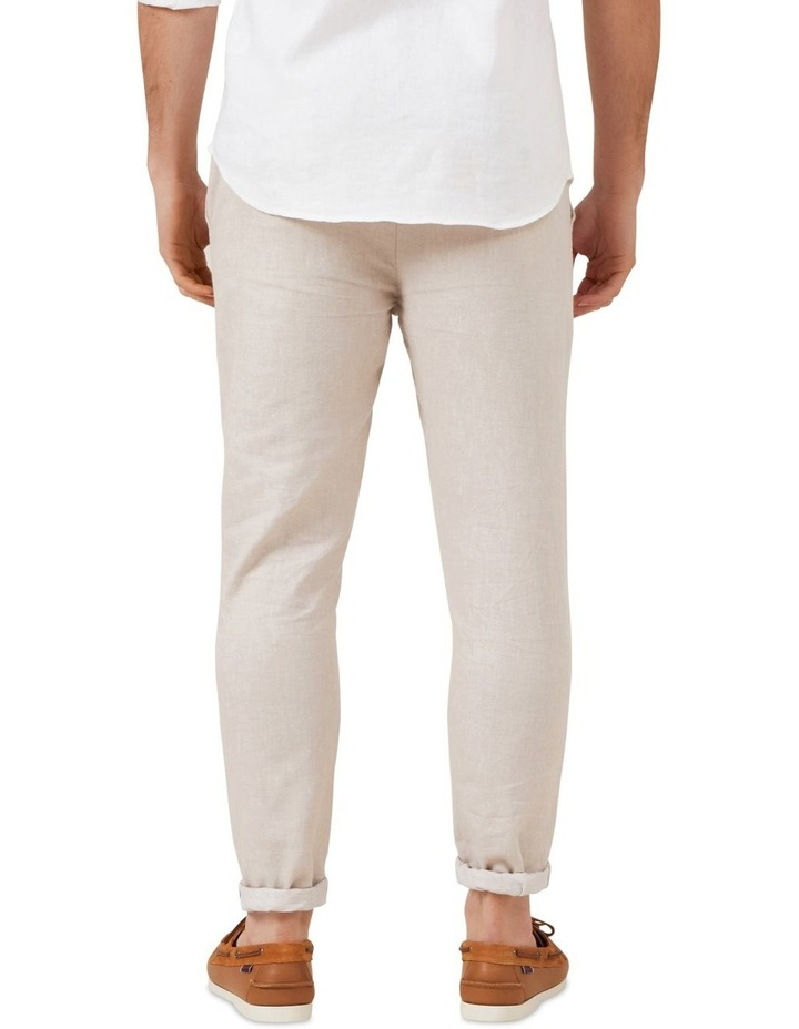 Linen Blend Pull On Pant image 3