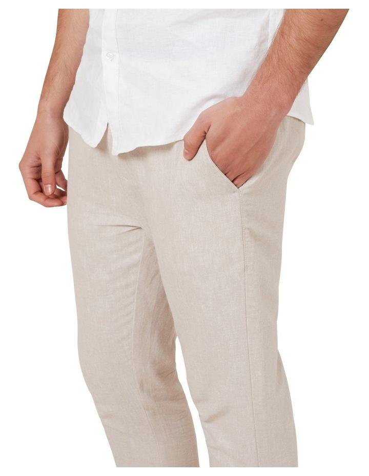 Linen Blend Pull On Pant image 4