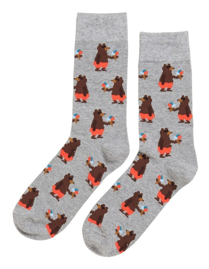 Beach Bear 1 Pk Socks image 1
