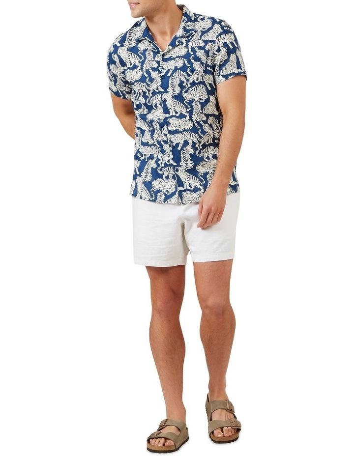 Tiger Linen Short Sleeve Classic Fit Shirt image 2