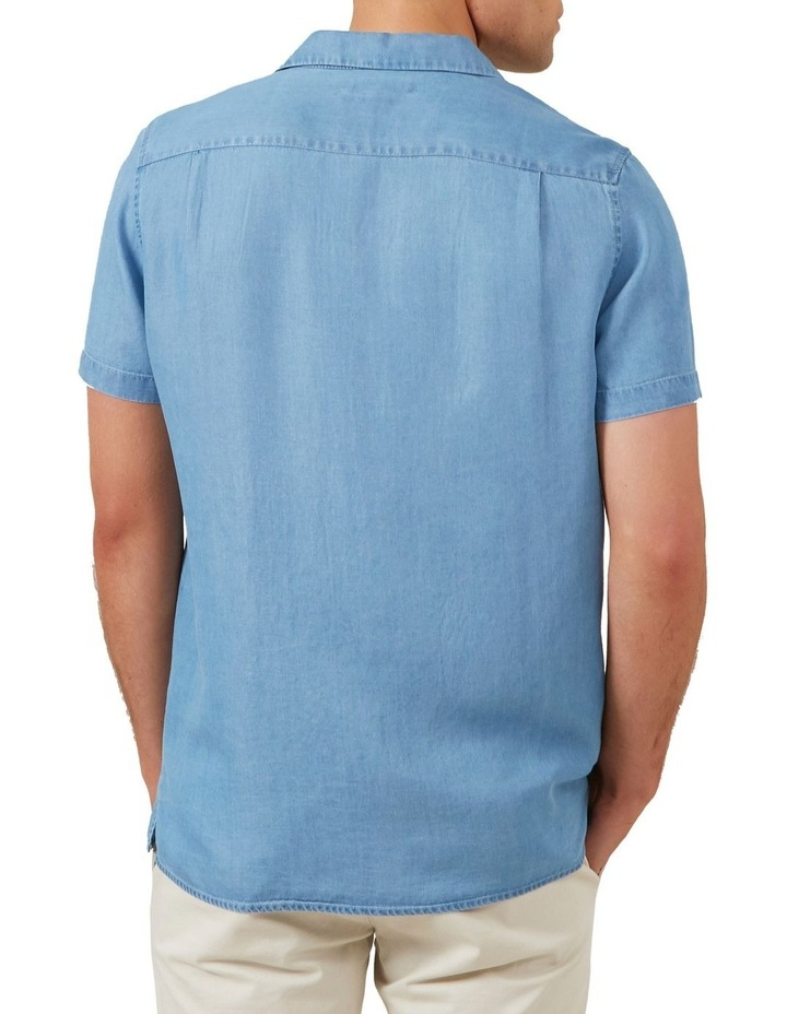 Chambray Short Sleeve Classic Fit Shirt image 3