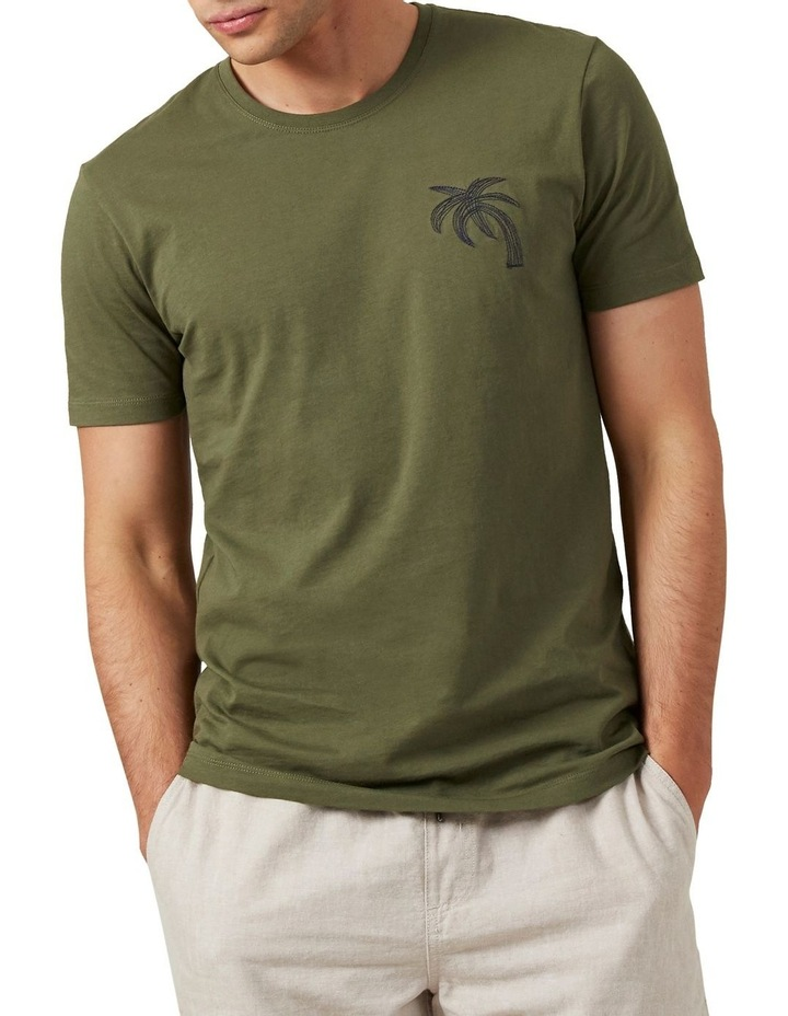 Palm Tree Embroidered T Shirt image 1