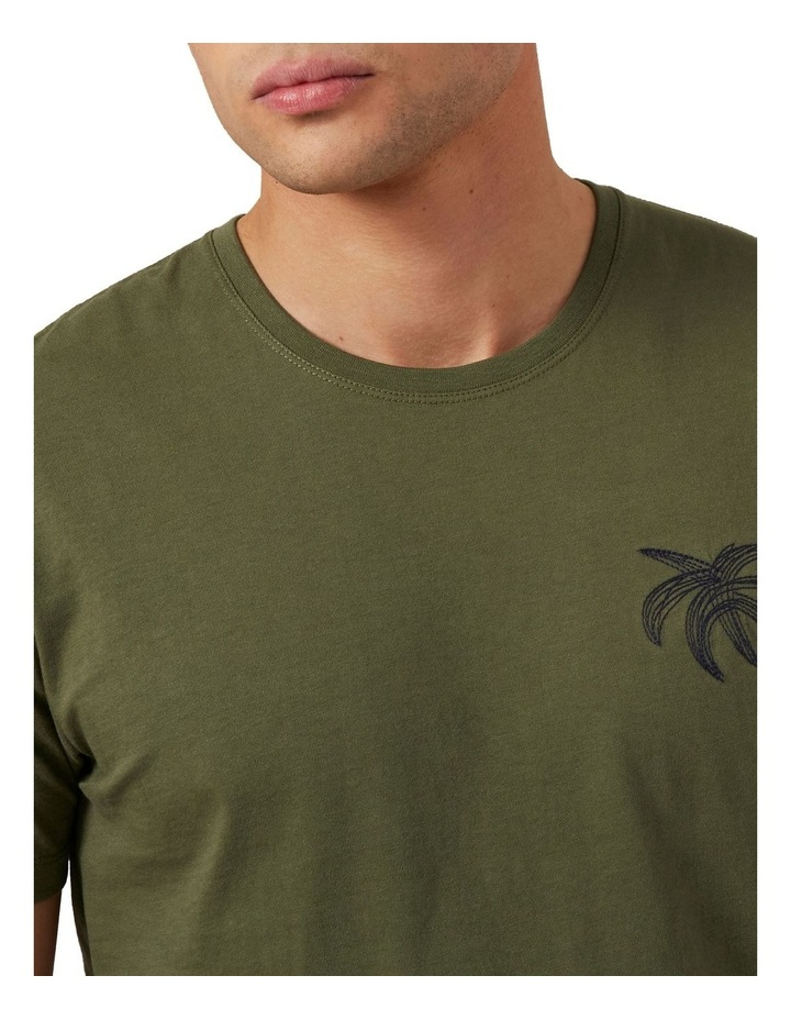 Palm Tree Embroidered T Shirt image 4