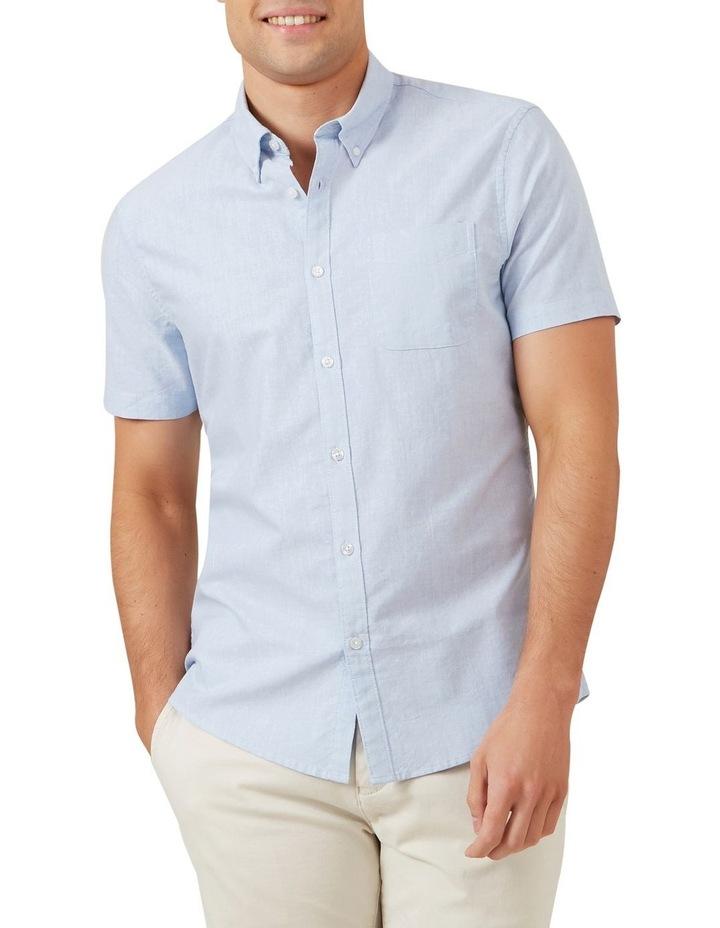 Pale Blue Short Sleeve Custom Fit Shirt image 1