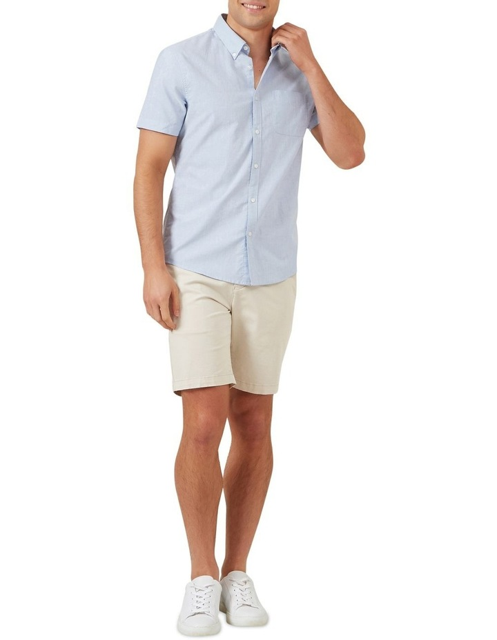 Pale Blue Short Sleeve Custom Fit Shirt image 2