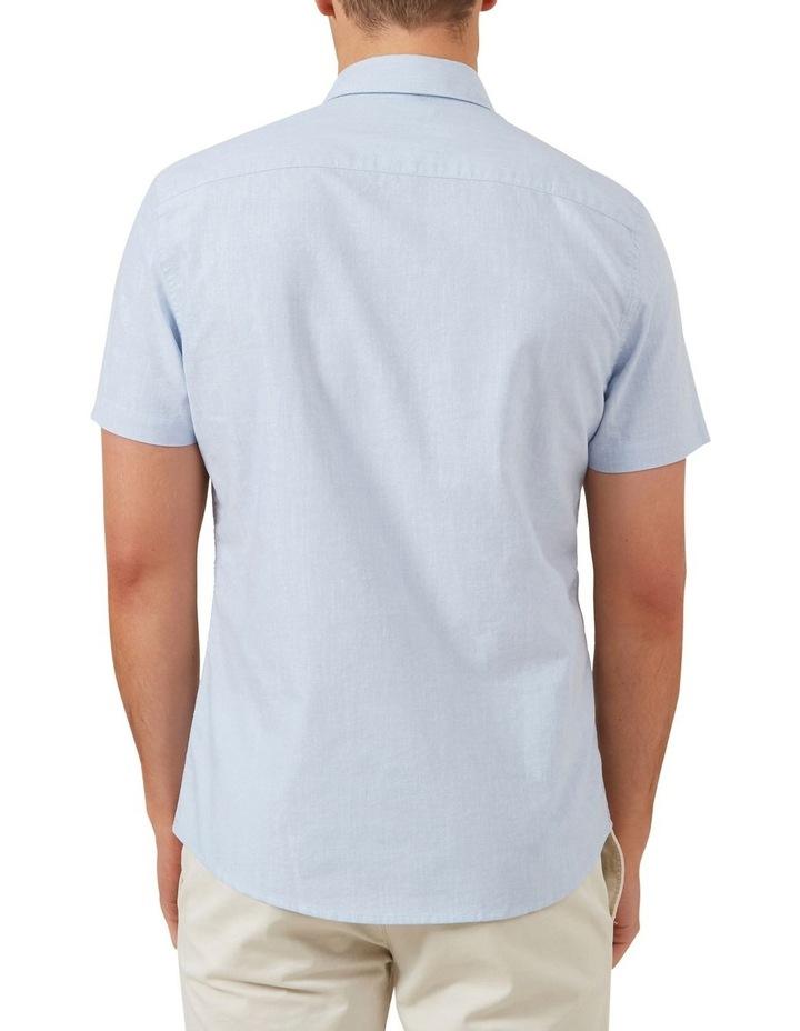Pale Blue Short Sleeve Custom Fit Shirt image 3