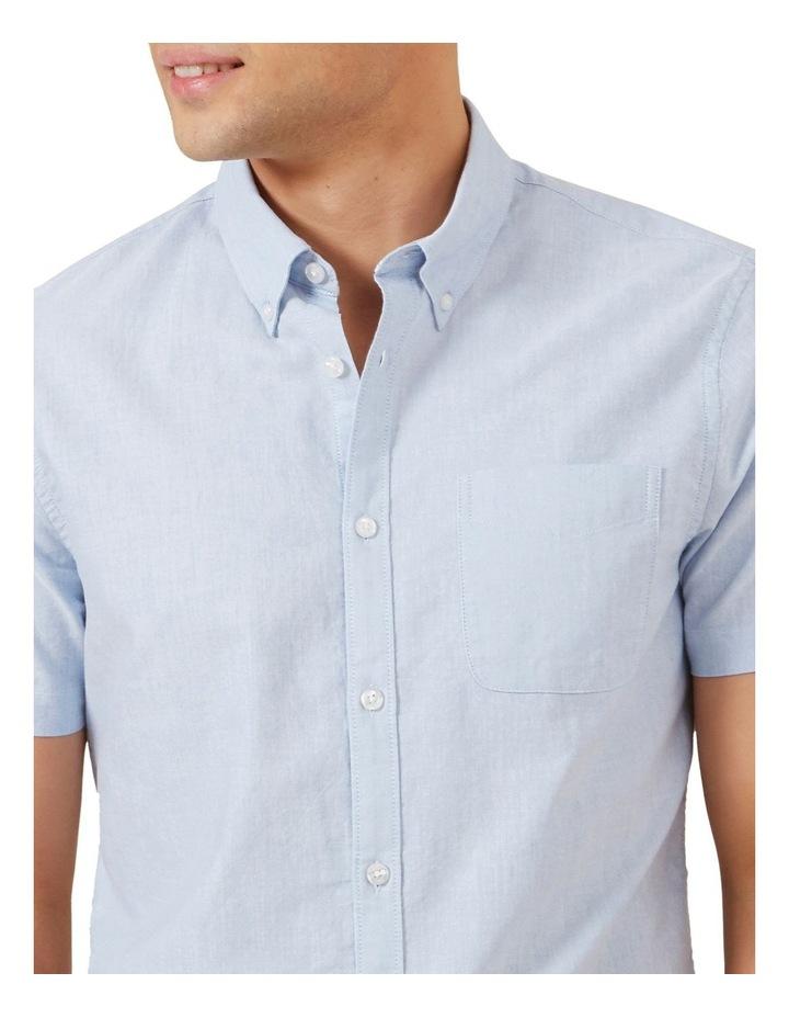 Pale Blue Short Sleeve Custom Fit Shirt image 4