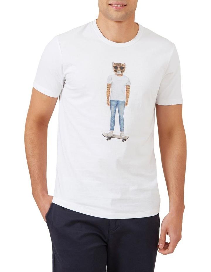 Skater Tiger T Shirt image 1
