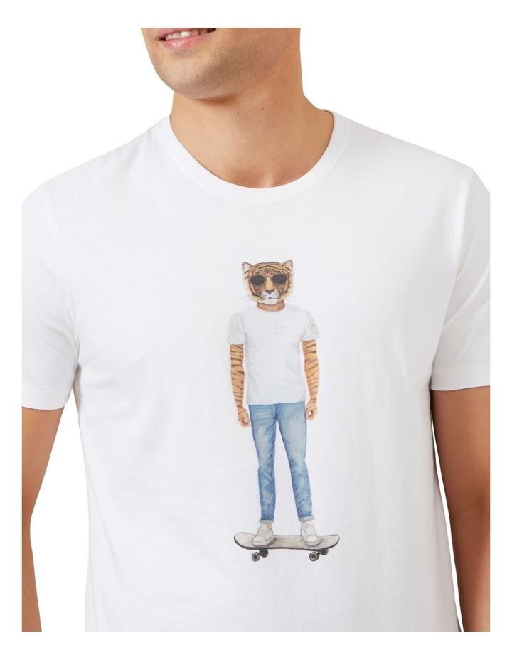Skater Tiger T Shirt image 4