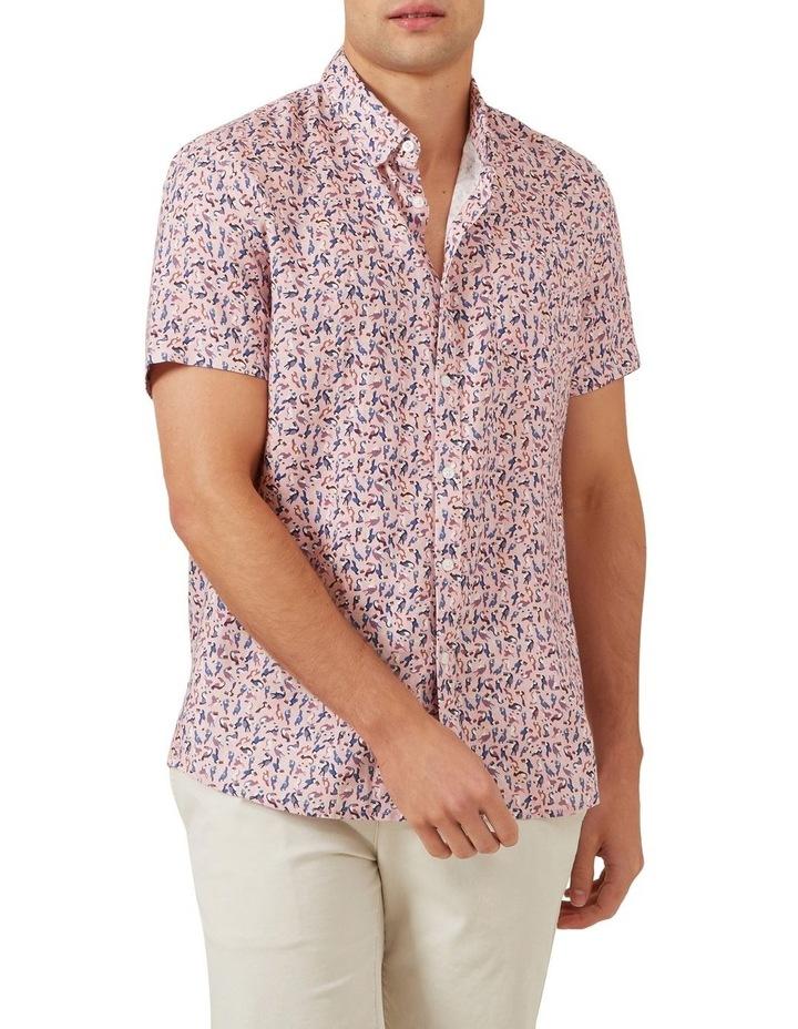 Toucan Linen Short Sleeve Classic Fit Shirt image 1