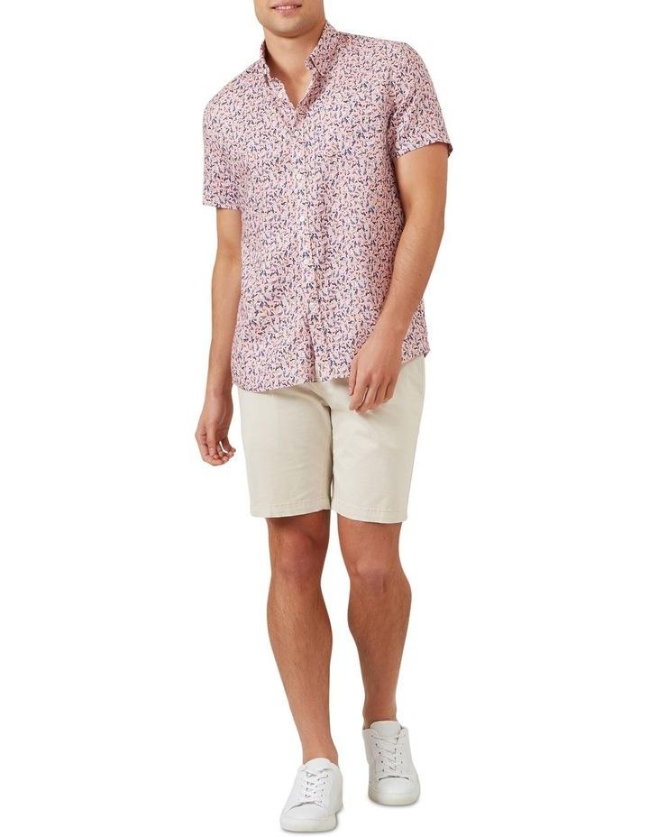 Toucan Linen Short Sleeve Classic Fit Shirt image 2