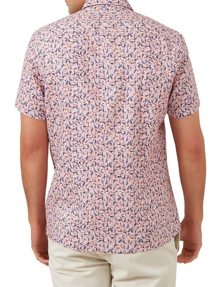 Toucan Linen Short Sleeve Classic Fit Shirt image 3