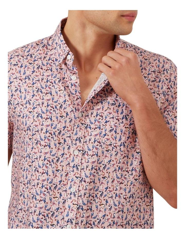 Toucan Linen Short Sleeve Classic Fit Shirt image 4
