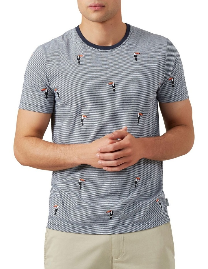 Embroidered Toucan T Shirt image 1
