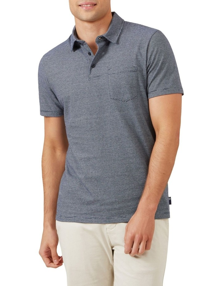 Stripe Jersey Polo image 1