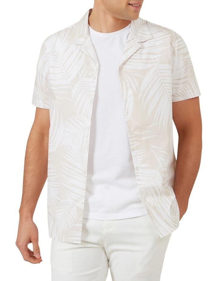 White Palm Short Sleeve Classic Fit Shirt image 1