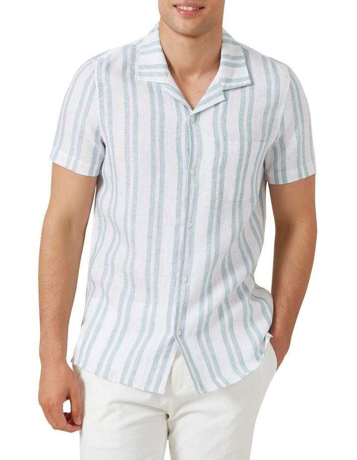 Stripe Linen Classic Fit Shirt image 1