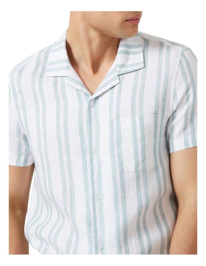 Stripe Linen Classic Fit Shirt image 4