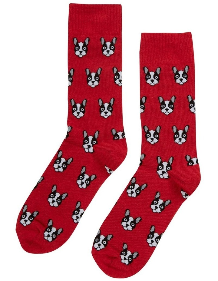 Dog Face 1 Pk Socks image 1