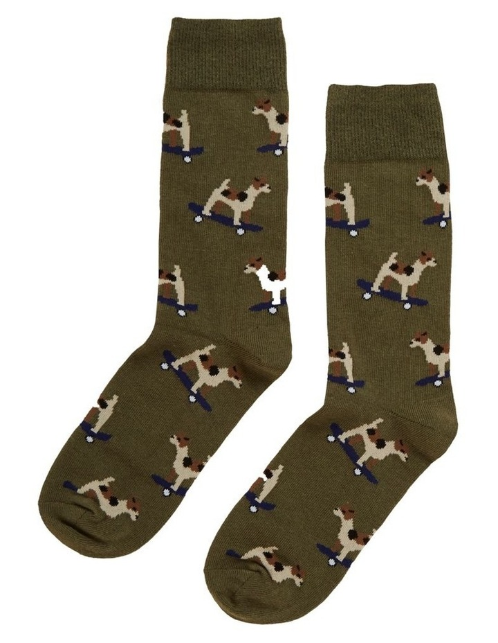 Skateboard Dog 1 Pk Socks image 1