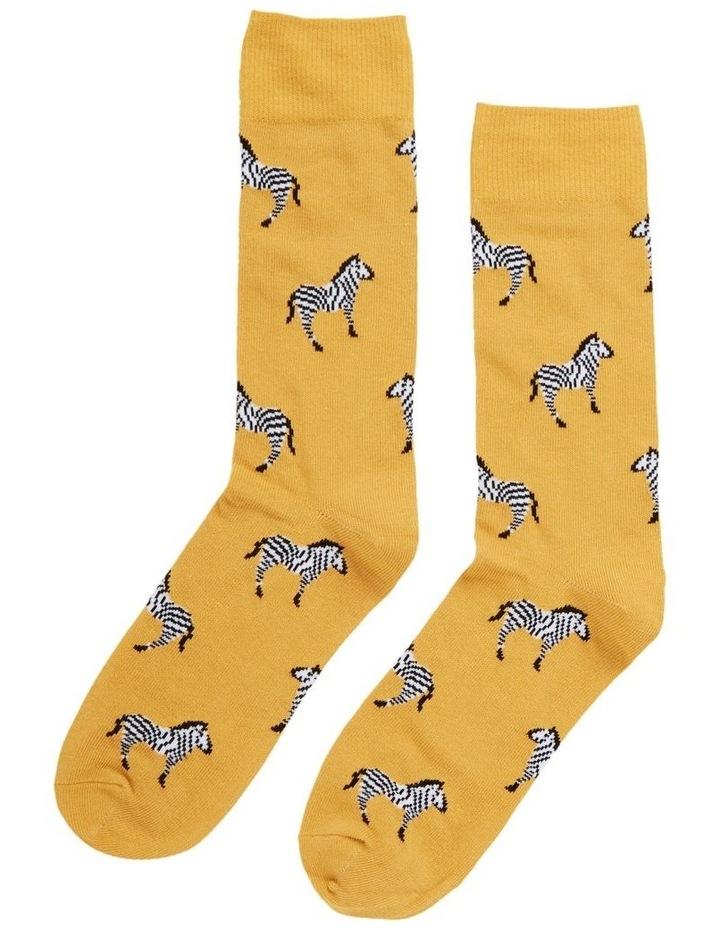 Zebra 1 Pk Socks image 1