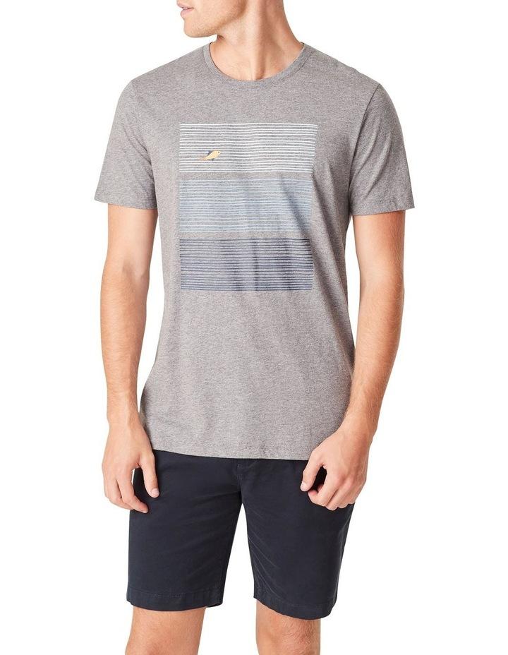 Fish Block Stripe T Shirt image 1
