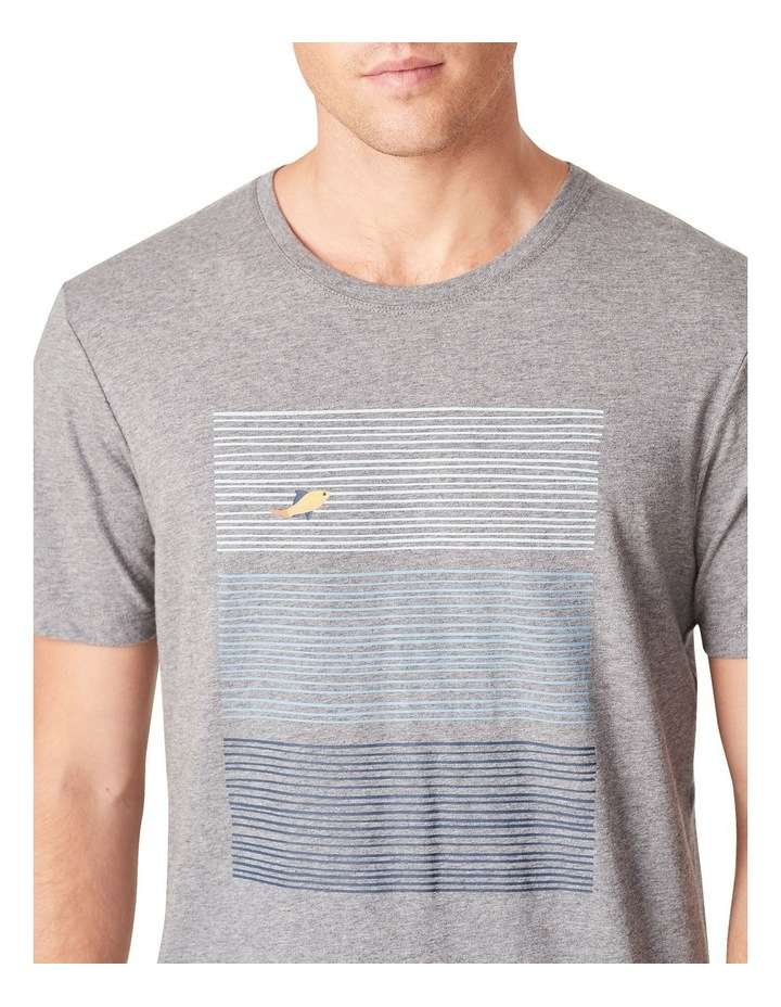 Fish Block Stripe T Shirt image 4